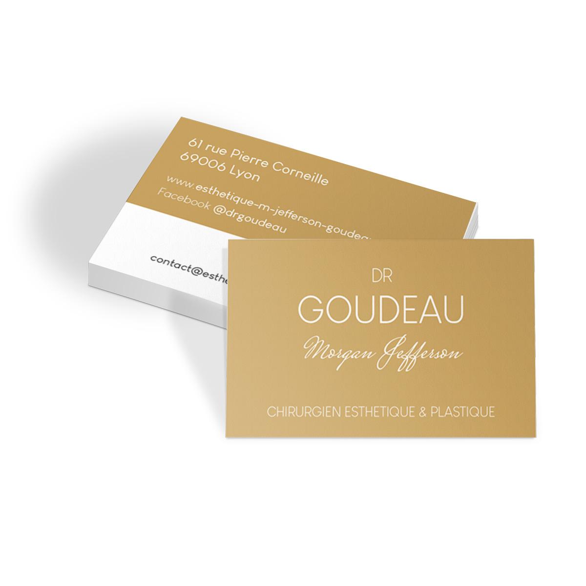 Communication visuelle - Cartes de visite Dr Goudeau